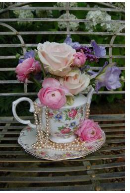 vintage tea set picture